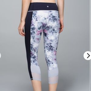 Lululemon | If You're Lucky Floral Crop Leggings
